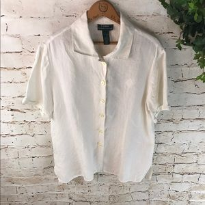 Lauren Ralph Lauren Linen Button Down Shirt